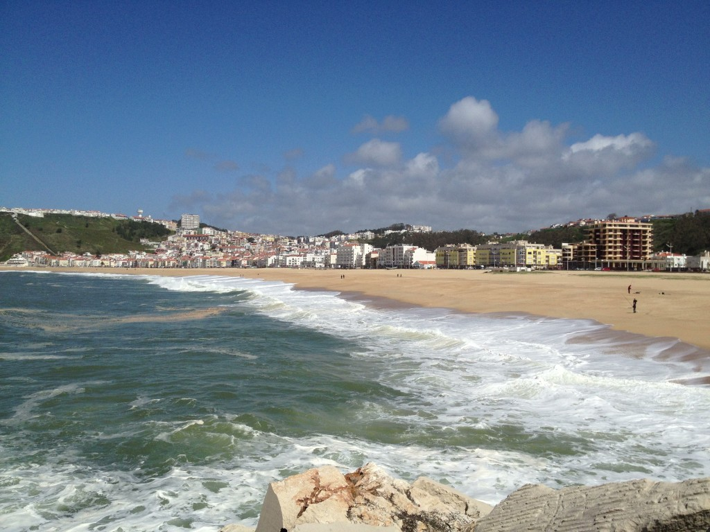 Nazaré beach view.